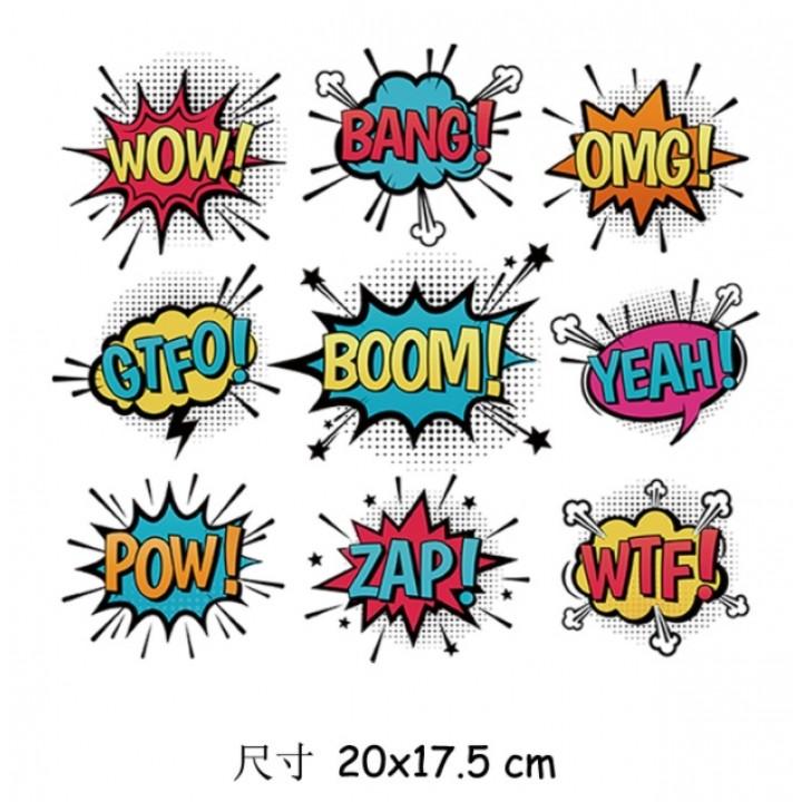 "Термокартинка ""BOOM! WOW! BANG!"" (20*17,5 см)"
