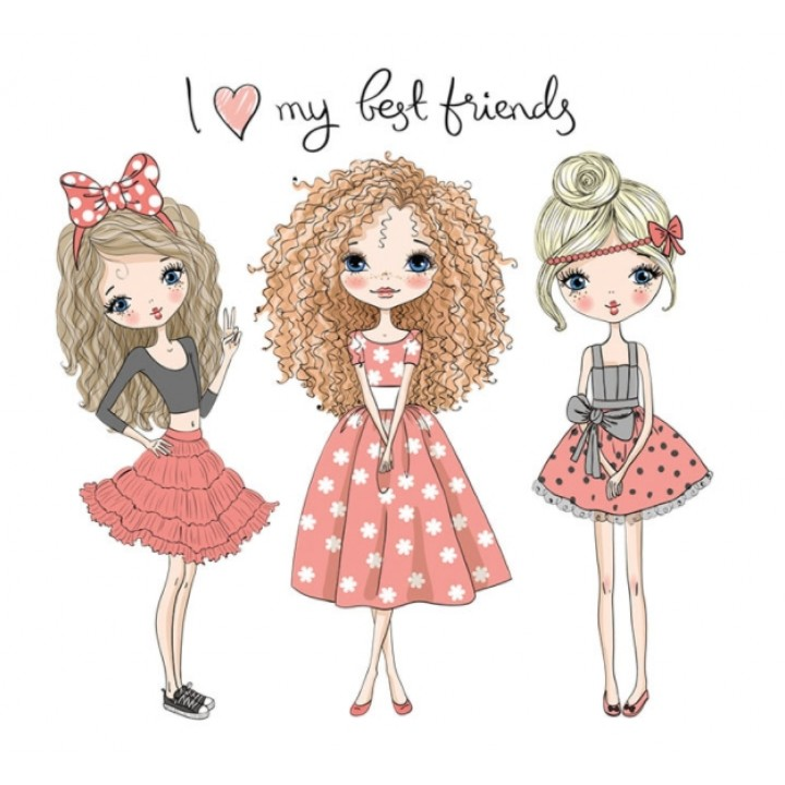 "Термокартинка ""I love my best friends"""