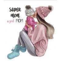 """Термокартинка """"Super mom #girl mom"""""""