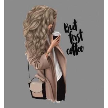 """Термокартинка """"But first coffee"""""""