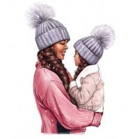 "Термокартинка ""Мама и дочка Winter"""
