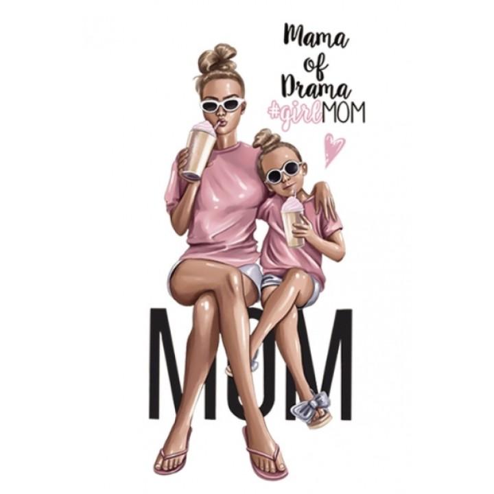 """Термокартинка """"Mama of drama #girl MOM"""""""
