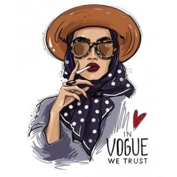 """Термокартинка """"In vogue we trust"""""""