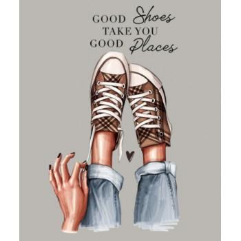 """Термокартинка """"Good shoes take you good places"""""""