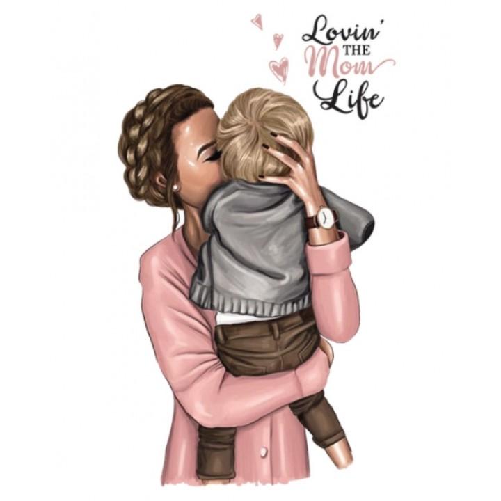 """Термокартинка """"Lovin the mom life"""""""