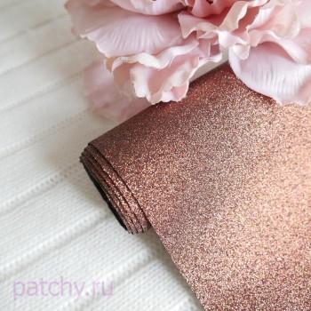 Глиттерная ткань бронза