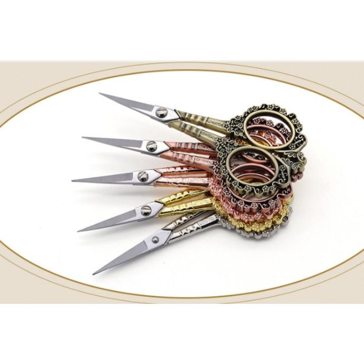 """Ножницы для рукоделия """"Ретро"""" (золото, серебро, античное золото, розовое золото, медь)"""