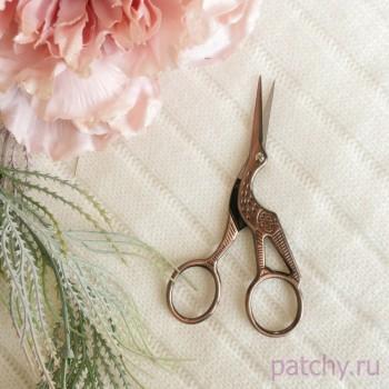"""Ножницы для рукоделия """"Цапля"""" (золото, ртуть, серебро, бронза, розовое золото, медь)"""