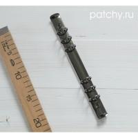 Кольцевой механизм диаметр 3см 22см 6 колец A5 черное серебро