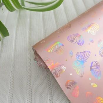 """Кожзам """"Блестящие бабочки"""""""