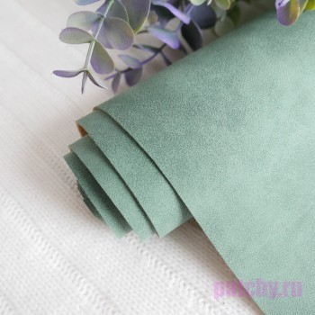 Искусственная замша зеленая