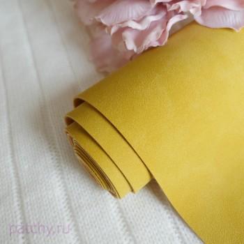 Искусственная замша желтая