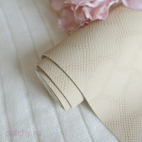 Кожзам светло-бежевый чешуя soft touch