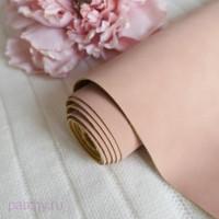 Кожзам Soft touch бежево-розовый