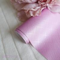 Кожзам шелковый ромб розово-сиреневый