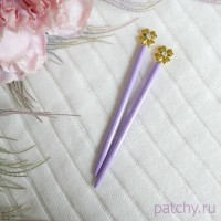 """Ручка с клевером """"сиреневый"""""""