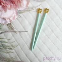 """Ручка с клевером """"мятный"""""""