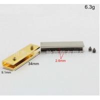Металлическая кромка 34*9,1*2,6 мм (Золото, Серебро, Темное серебро)
