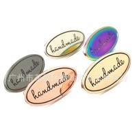Металлический лейбл HANDMADE (вариант 3) Золото, розовое золото, серебро, темное серебро, старое золото