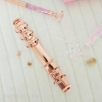 Кольцевой механизм диаметр 2,5 см 18см 6 колец A6 розовое золото