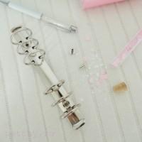 Кольцевой механизм диаметр 3см 22см 6 колец A5 серебро