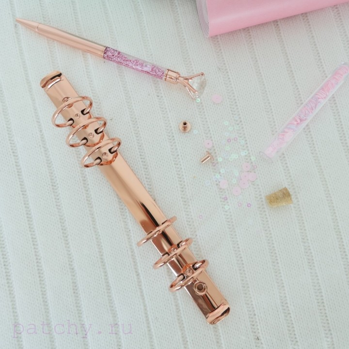 Кольцевой механизм диаметр 3см 22см 6 колец A5 розовое золото