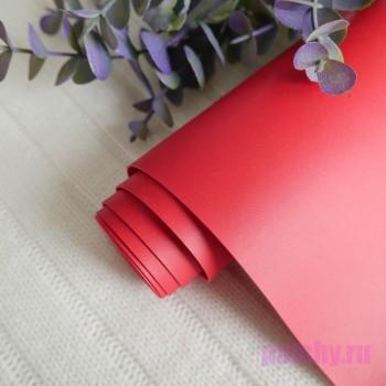 Переплетный кожзам матовый Красный (ЦВЕТ 32)