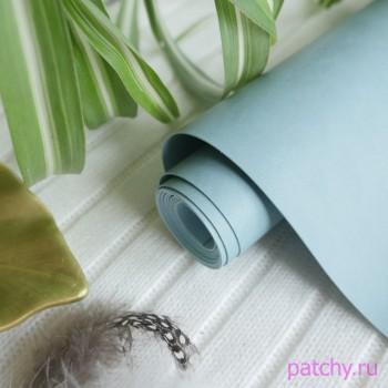 Переплетный кожзам матовый Серо-голубой (ЦВЕТ 71)