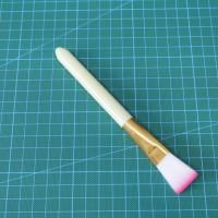 """Синтетическая кисть """"Розовый хвостик"""" ( желтый)"""