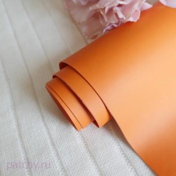 Переплетный кожзам матовый Апельсин (ЦВЕТ 43)