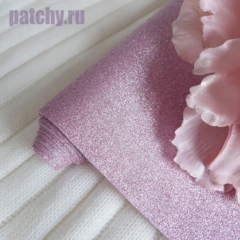 Глиттерная ткань сиреневая
